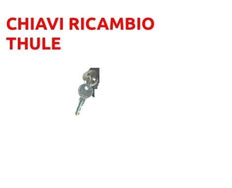 COPPIA CHIAVI THULE RICAMBIO CODICE N138  N 138 PER BOX BARRE PORTABICI PORTASCI