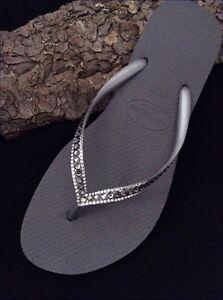 havaianas slim crystal silver