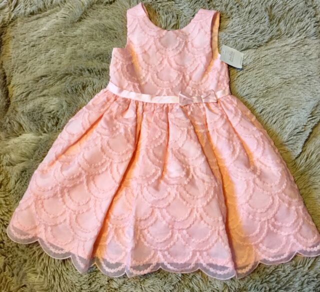 Janie and Jack special occasion wedding Embroidered Organza Dress Size 3 Toddler