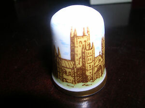 CAVERSWALL THIMBLE Vintage CATERBURY CATHEDRAL Made in England New in Box