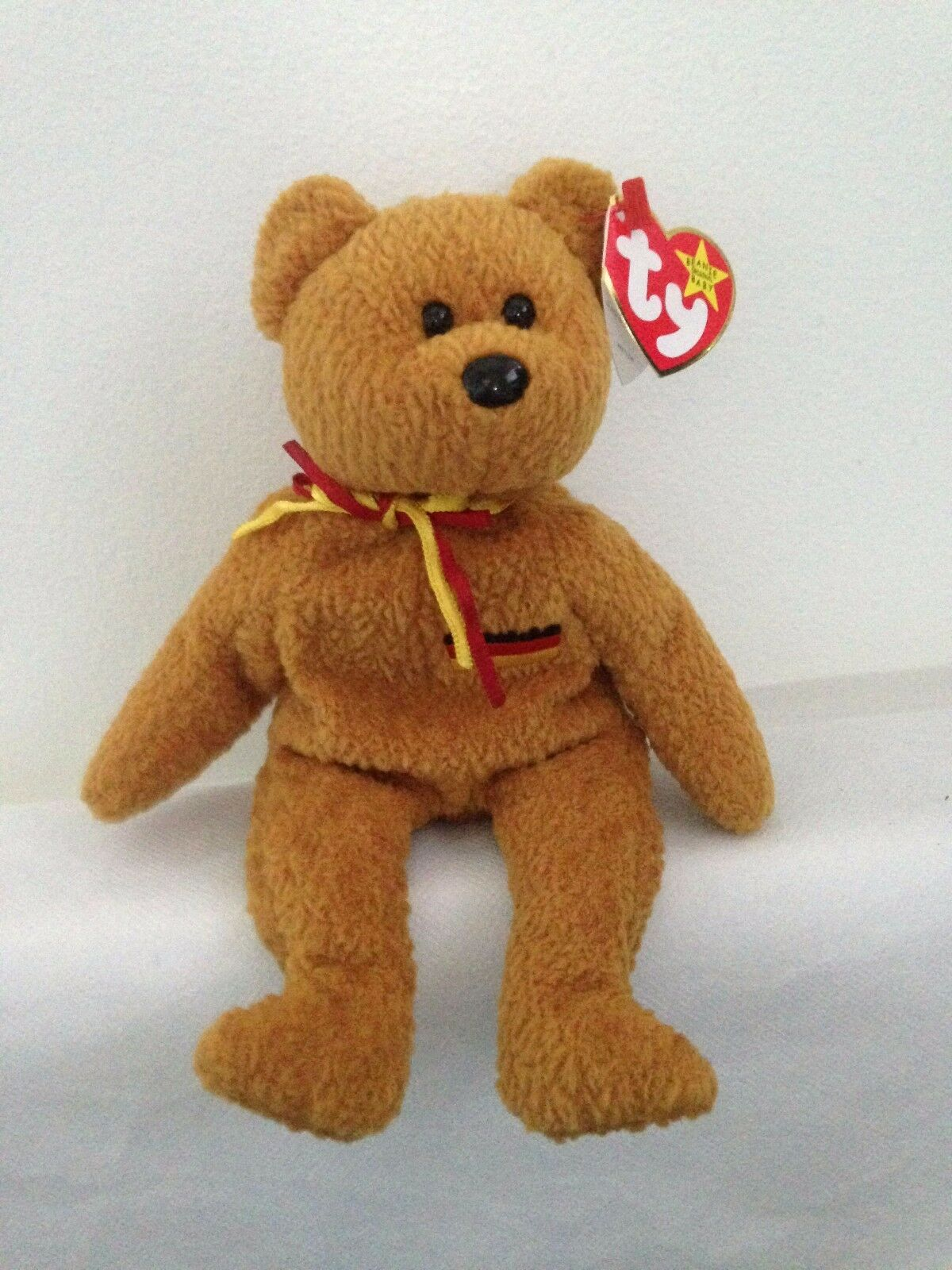 TY Beanie Babies - Germania The Bear with Gasport and  very Rare Tag Errors
