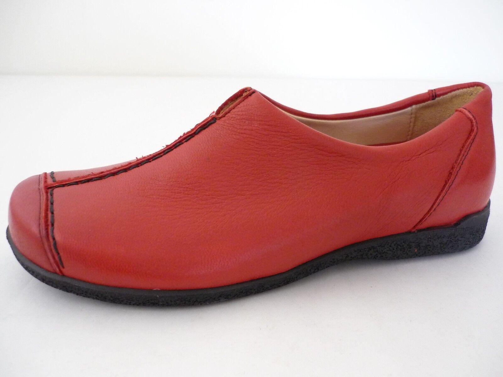 HIGHLANDER DAMEN SCHUHE HALBSCHUHE 37,5 38 38,5 SCHUHE DAMEN ROT LEDER Schuhe FOR Damenschuhe NEU 041aca