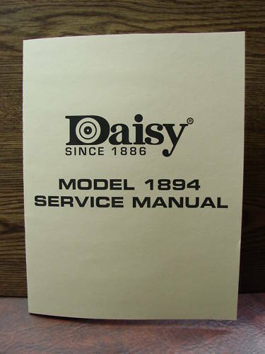 Daisy model 1894 bb gun repairman s service manual for sale online.