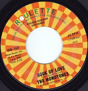 """THE MONOTONES - Book Of Love 7"""" 45"""