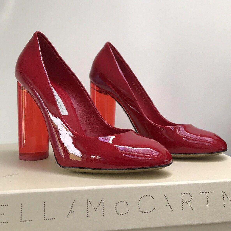 Stella McCartney rot Leather Plexi Heel Pump 6.5