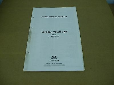 1990 Lincoln Town Car Wiring Diagram Electrical Schematics Service Shop Manual Ebay