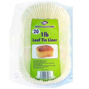 Loaf-Tin-Liner-1lb-20piece-pack-HK-Trading-NEW