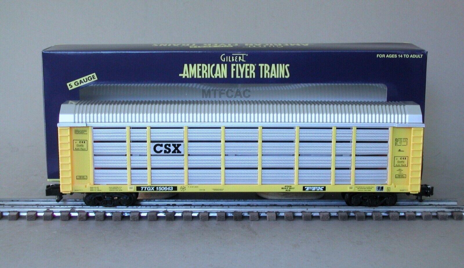 American Flyer 6-47930 CSX Auto Carrier por Lionel ttgx 150643