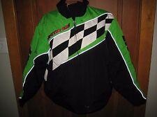Vintage Arctic Cat Snowmobile Jacket Coat-women's XL Zip Out Liner Green Black