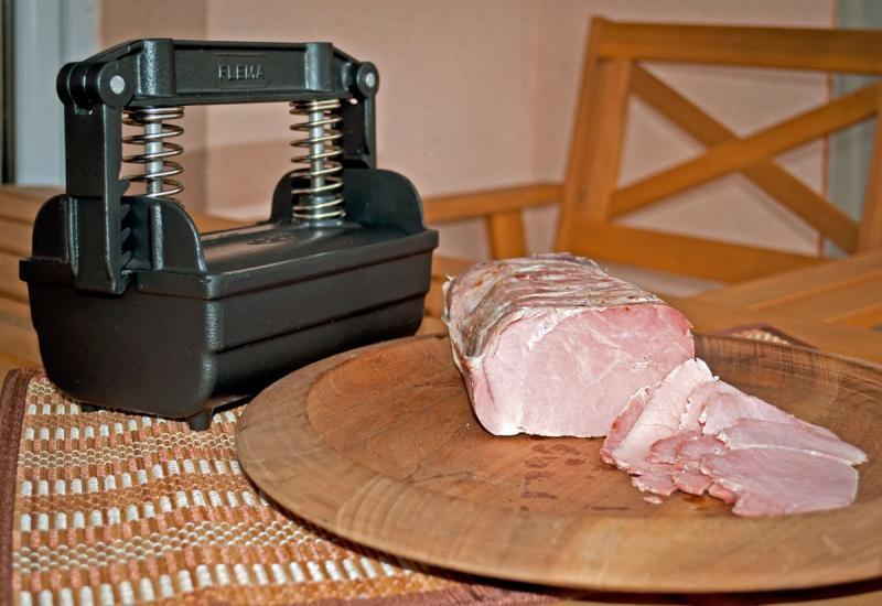 Meat Press jambon Maker-Tongue Press-fonte d'aluminium,