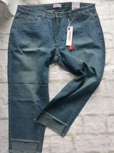 Sheego-Women-039-s-Jeans-Kira-7-8-Capri-Pants-Trousers-Size-44-to-58-Blue-738