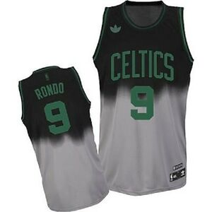 sale retailer 58e34 a333b Details about NBA Boston Celtics Rondo Basketball Fadeaway Swingman Jersey  Shirt
