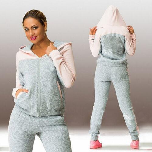 Damenmode Freizeit Fitness Trainings Jogging Sports Anzug Pullover Zweiteiler