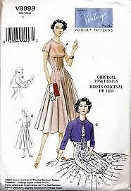 Vintage Dress Sewing Patterns 1940s 1950s 1960s Pinup Petite and Plus Size