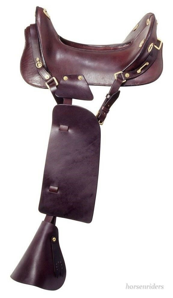 15  Inch McClellan Replica Cavalry Saddle - Dark Oil Leather  world famous sale online