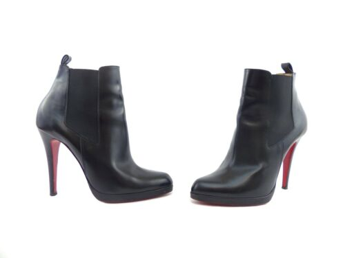 Uk 'bang 40 7 ~ Christian Boots Eden Bang' Leather Louboutin Eu Black Us 10 Zg8gP