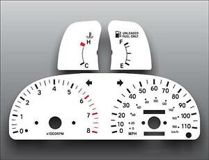 1995-1997-Toyota-Tacoma-SR5-3-4L-Manual-Dash-Instrument-Cluster-White-Face-Gauge