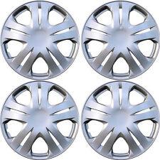 1020 Universal Wheel Cover ABS Wheel Skins Set Hub Caps Silver 15'' -Set of 4