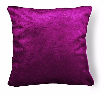 Fuchsia Crushed Velvet Style Cushion Cover//Pillow Case *Custom Size* Mn114a