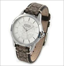 coach watches parts accessories nwt authentic coach 14501525 classic signature khaki fabric strap women s watch
