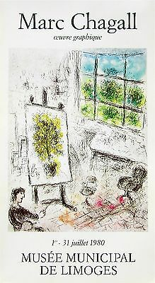 Musee Municipal De Limoges, 1980 Exhibition Poster, Marc Chagall