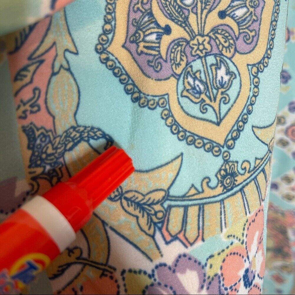 Vintage 1960s Pastel Floral Patchwork Pointed Col… - image 12