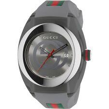 New Gucci YA137109 Sync Grey Silicone Strap Unisex Watch