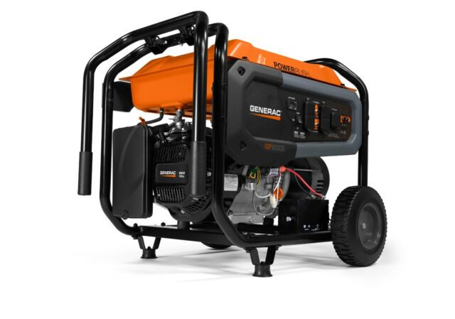 Generac 7676 - GP8000E 8,000 Watt Electric Start Portable Generator, 50-ST