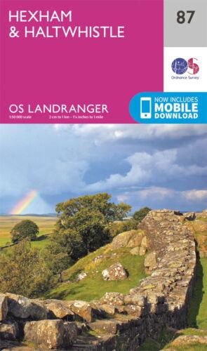 Ordnance Survey NEW 2016 HEXHAM /& HALTWHISTLE LANDRANGER MAP 87 OS