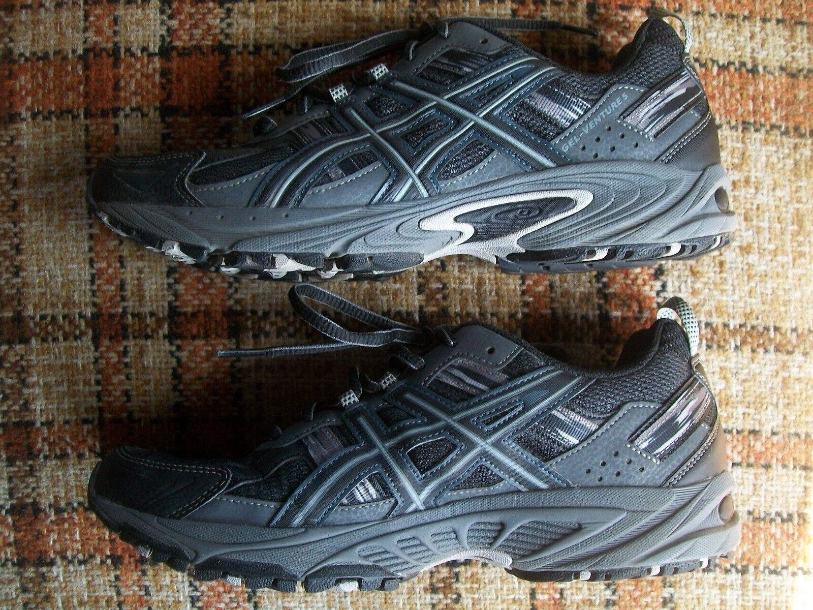 Asics Mens Size 8 Gray (EURO 41.5) Gel-Venture 5 Black Gray 8 T5N3N f0a56e