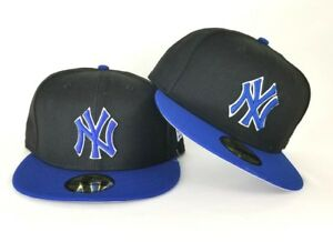 New Era Black   Royal Blue New York Yankee 59Fifty Fitted hat  88576a11abb
