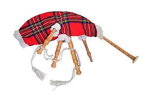 Junior jouable cornemuses enfant cornemuse royal stewart sac housse enfants jouet cornemuse