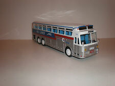 "1/43BUS SILVER EAGLE 05/40 ""KG LINES"" 1969 with greyhound on body"
