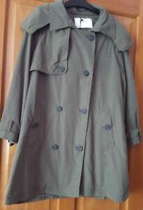 Coat Zara Khaki Bnwt Trench Court Taille L pp0Uf