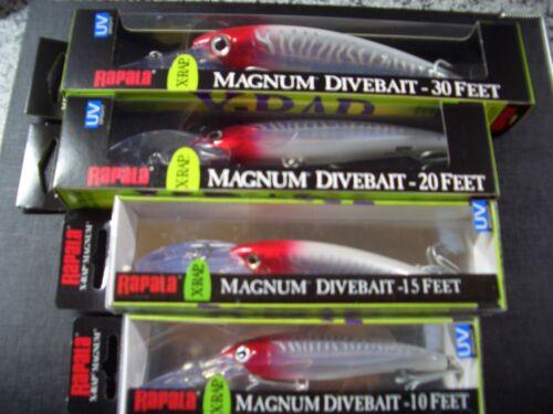 Rapala Original X Rap Magnum 4er Set XRMAG-10 bis 30 Red Head Wobbler Kunstköder