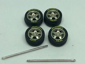 Tires-1-64-Roues-Achilies-Gold-Kit-Four-Fits-Hot-Roues-Matchbox-Many-Others