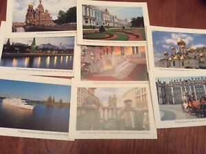 Collectible-Photo-notecards-of-Moscow-Russia-set-of-8-with-envelopes