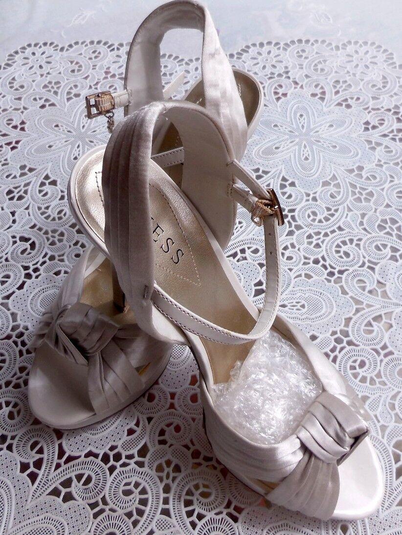 Designer Hochzeits Pumps Sandalette GUESS USA mit Strass Gr. US 7,5