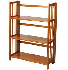 "Casual Home 3 Tier Folding Stackable Bookcase 27.5"" Wide Honey Oak, 330-25U New"