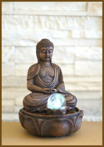 Buddha Fountain//Room Fountain Glass Ball 27 cm HO NEW *