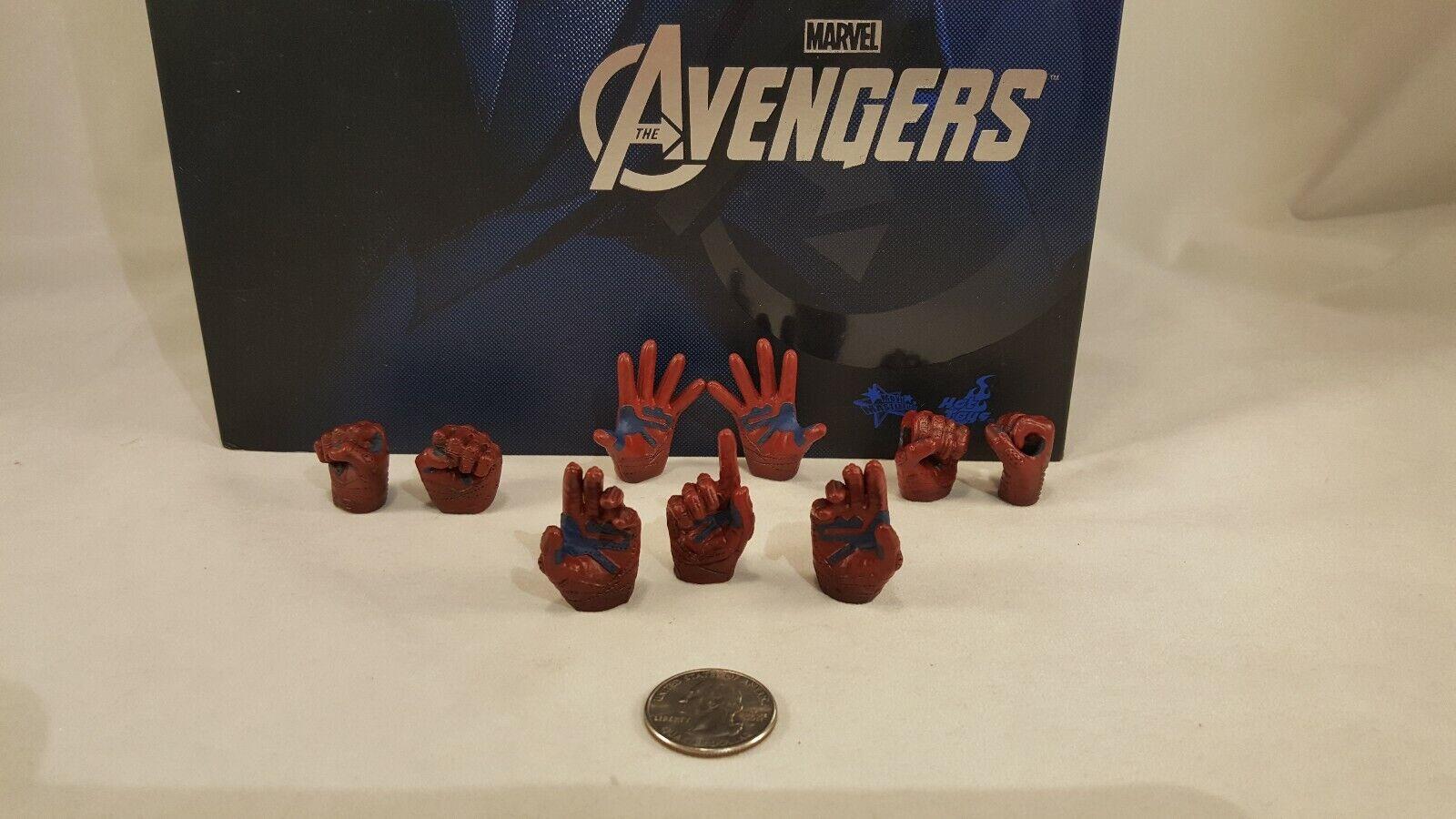 Hot Toys MMS174 Avengers 1 6 Captain America Action Figure'S les 9 Mains seulement