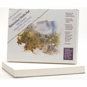 GOLDLINE-WATERCOLOUR-PAD-100-SHEETS-200gsm-24cm-x-32cm-COLD-PRESSED-NOT-SURFACE
