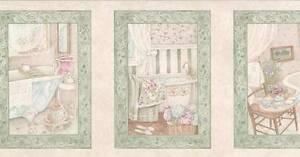 Wallpaper-Border-Vintage-Victorian-Look-Bathroom-Framed-Bath-Settings
