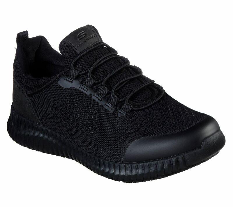 Skechers Black Shoes Women Work Memory Foam Slip-on Comfort Slip Resistant 77260