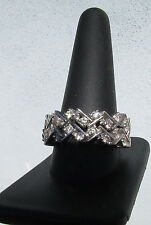 "18K White Gold Eternity 2.64 Carat Diamond ""Articulated"" Custom Made Ring"