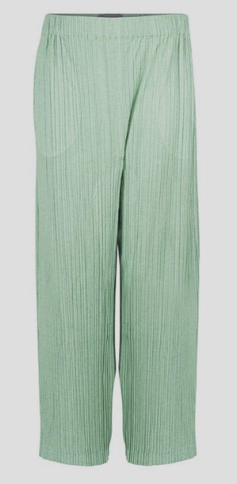 OSKA Pantaloni besime PLISSEE-Bamboo-Regno Unito 12 14 - Con etichette Nuovo di Zecca
