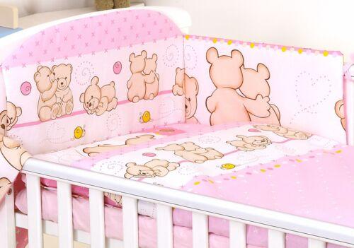 Bebé Niño O Niña juego de cama cuna Fit 120x60 O Cuna 140x70-mulitdesigns