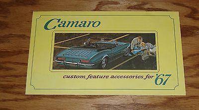 Chevrolet Custom 1967 Camaro Sales Brochure Feature Accessories 67 Original T7pqWq