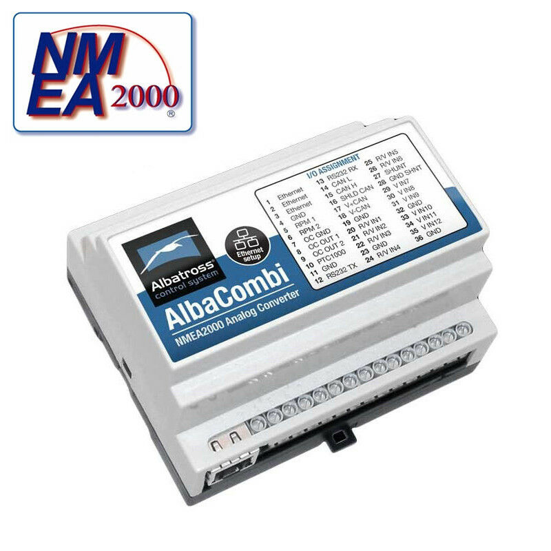 Alba-Combi Engine 2000 Monitoring 15 PGN - Analog to NMEA 2000 Engine Signal Converter 8d1c15