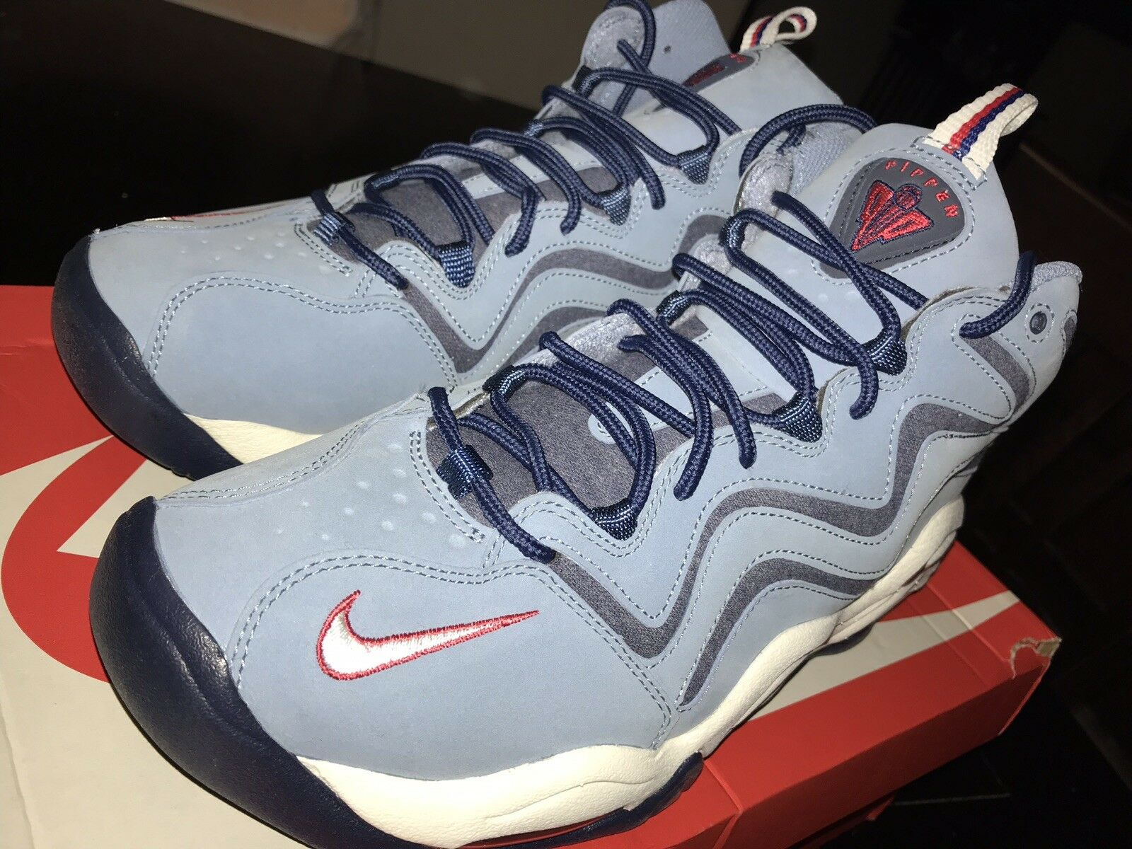 Nike Air PIPPEN  WORK blueeE UNIVERSITY RED 325001-403 Sz 10